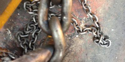 Maglia di catena deformata